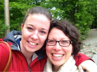 Sarah & Gaby at Camp Kawartha, September 2014