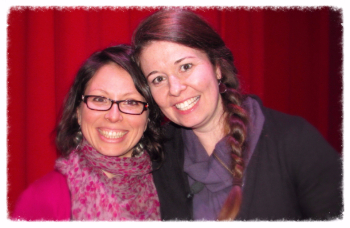 Sarah & Gaby at Messages from Spirit, February 2015