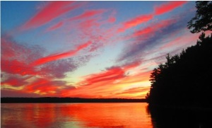 Sunset at Christie Lake